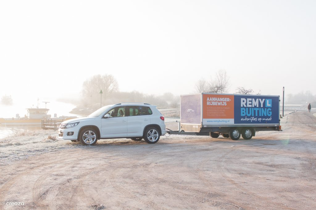 Aanhanger (BE) rijbewijs halen bij Remy Buiting in Dieren!
